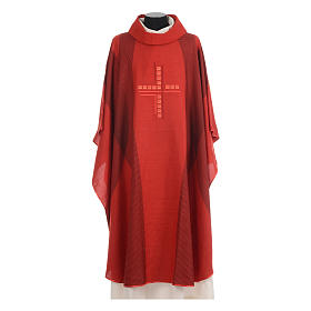 Chasuble embroidered with stylized cross s4
