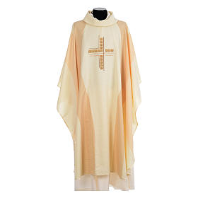Chasuble embroidered with stylized cross s5
