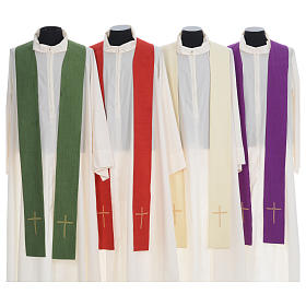 Chasuble embroidered with stylized cross s7