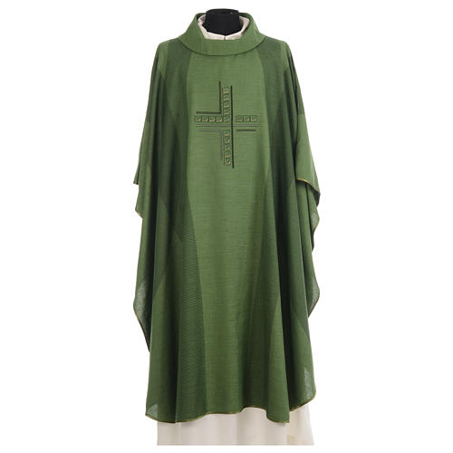 Chasuble embroidered with stylized cross 3