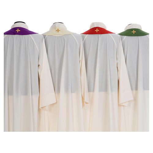 Chasuble embroidered with stylized cross 8