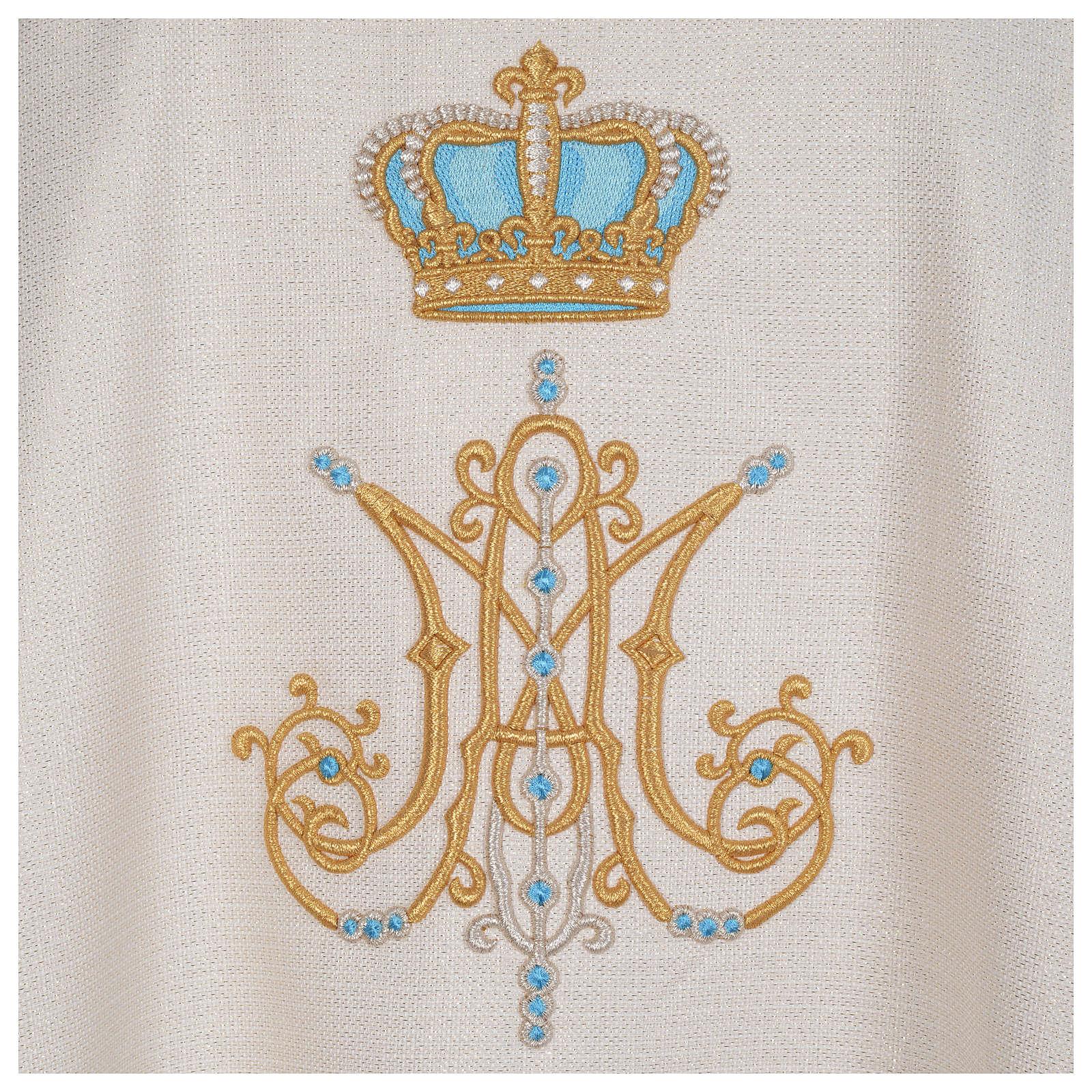 Chasuble mariale avec initiales Saint Nom de Marie 4
