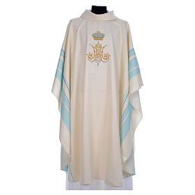 Chasuble mariale avec initiales Saint Nom de Marie s1