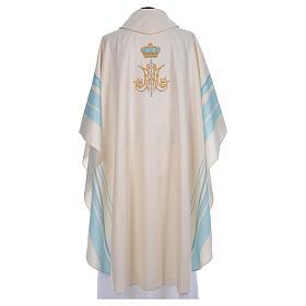 Chasuble mariale avec initiales Saint Nom de Marie s3