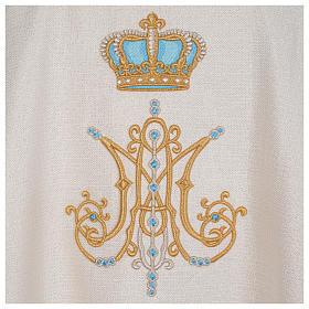 Chasuble mariale avec initiales Saint Nom de Marie s4