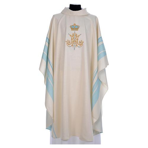 Chasuble mariale avec initiales Saint Nom de Marie 1