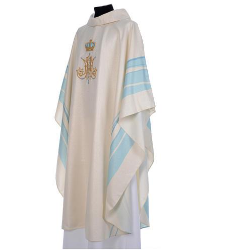Chasuble mariale avec initiales Saint Nom de Marie 2
