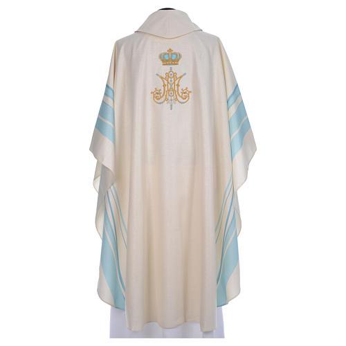 Chasuble mariale avec initiales Saint Nom de Marie 3