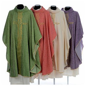 Chasuble embroidered with large cross design s1