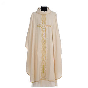 Chasuble embroidered with large cross design s5