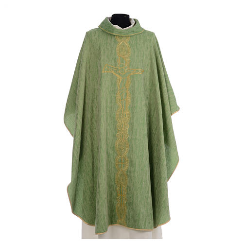 Chasuble embroidered with large cross design 3