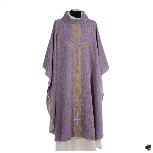 Chasuble embroidered with large cross design 6