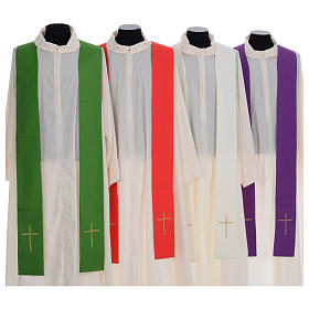 Liturgical chasuble with cross embroidery s7
