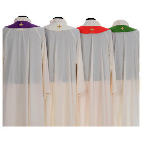 Liturgical chasuble with cross embroidery s8