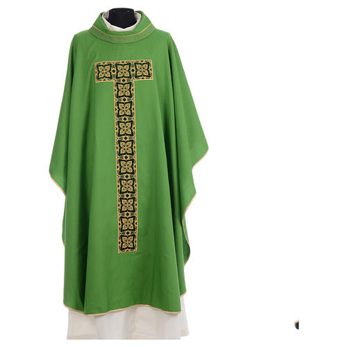 Liturgical chasuble with cross embroidery 3