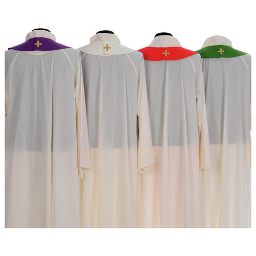 Liturgical chasuble with cross embroidery 8