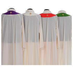 Chasuble liturgique broderie croix grande s8