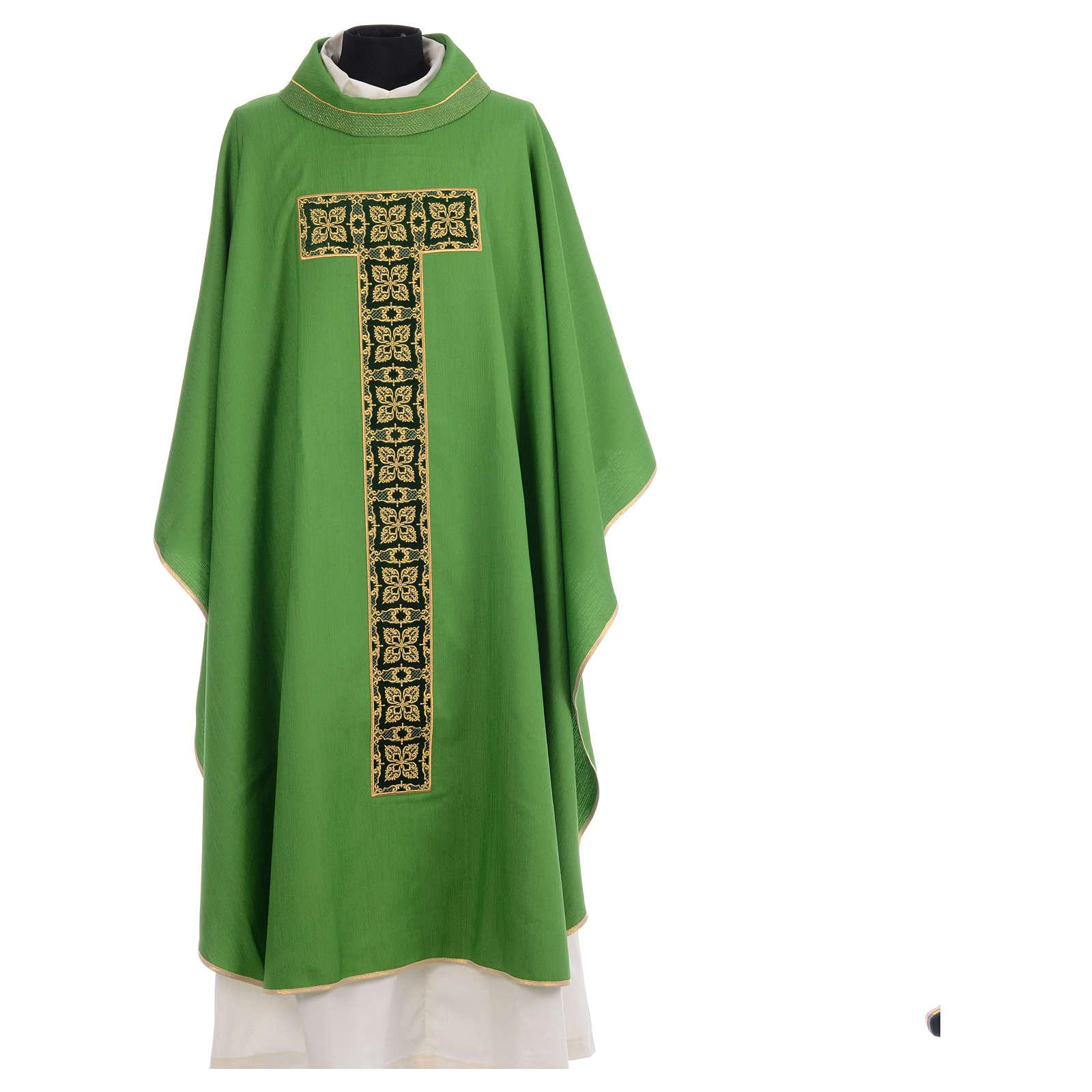 Casula liturgica ricamo croce grande 4