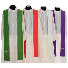 Casula litúrgica bordado cruz grande s7