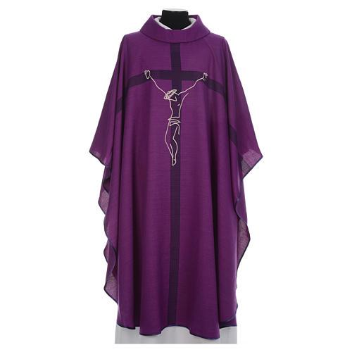 Casula liturgica quaresimale con crocifisso 1