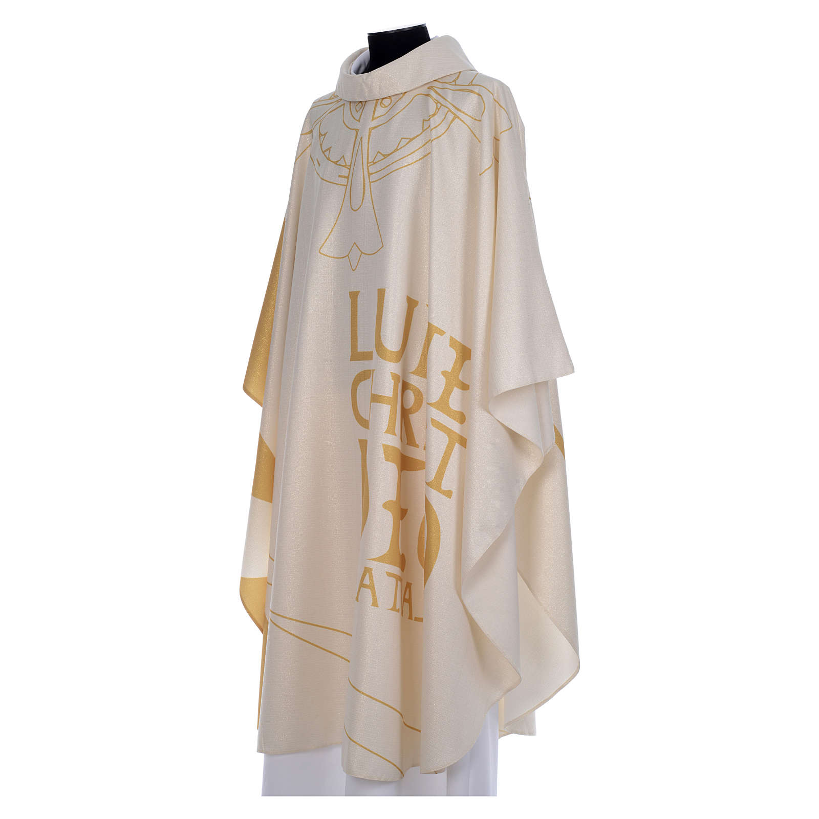 Liturgical chasuble with golden decorations 4