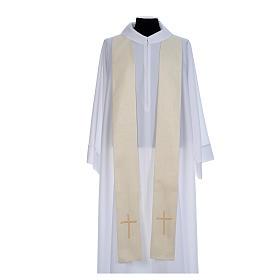 Casulla litúrgica con decoraciones de oro s6