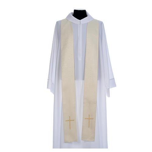 Casulla litúrgica con decoraciones de oro 6