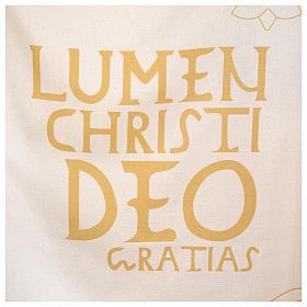 Chasuble liturgique avec décorations en or s4