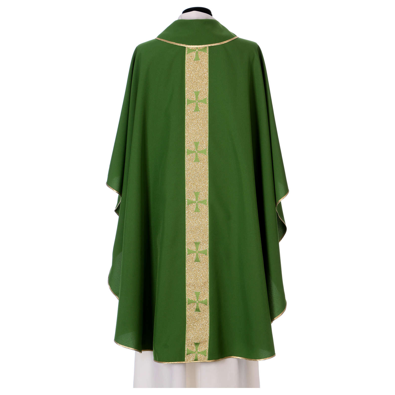 Chasuble gallon croix avant arrière tissu Vatican 100% polyester 4