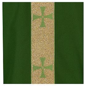 Chasuble gallon croix avant arrière tissu Vatican 100% polyester s2