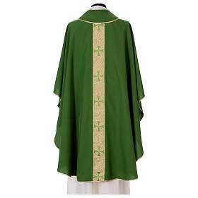 Chasuble gallon croix avant arrière tissu Vatican 100% polyester s3