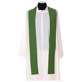 Chasuble gallon croix avant arrière tissu Vatican 100% polyester s4