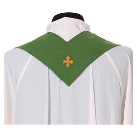 Chasuble gallon croix avant arrière tissu Vatican 100% polyester s5