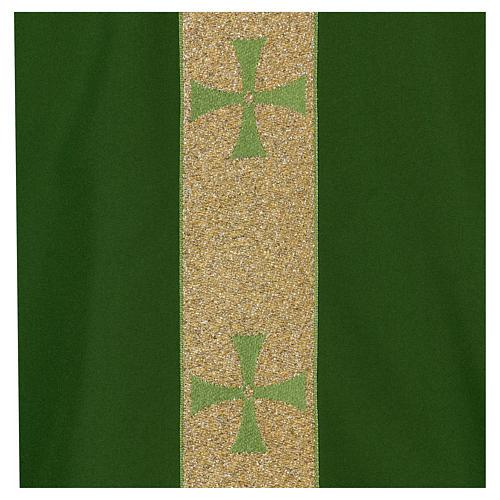 Chasuble gallon croix avant arrière tissu Vatican 100% polyester 2
