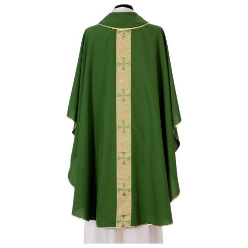 Chasuble gallon croix avant arrière tissu Vatican 100% polyester 3