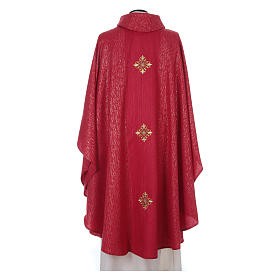 Chasuble 85% wool 15% lurex embroidered with three crosses s11