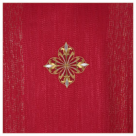 Chasuble 85% wool 15% lurex embroidered with three crosses s12