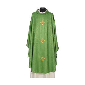 Chasuble 85% wool 15% lurex embroidered with three crosses s3