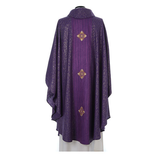 Chasuble 85% wool 15% lurex embroidered with three crosses 9
