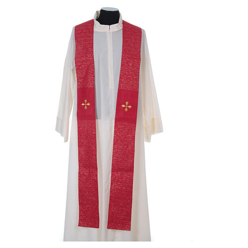 Chasuble 85% wool 15% lurex embroidered with three crosses 14