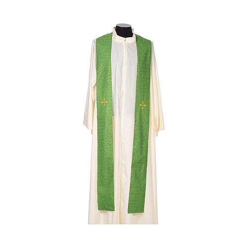 Chasuble 85% wool 15% lurex embroidered with three crosses 5