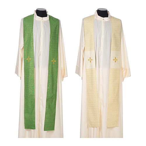 Chasuble 85% wool 15% lurex embroidered with three crosses 7