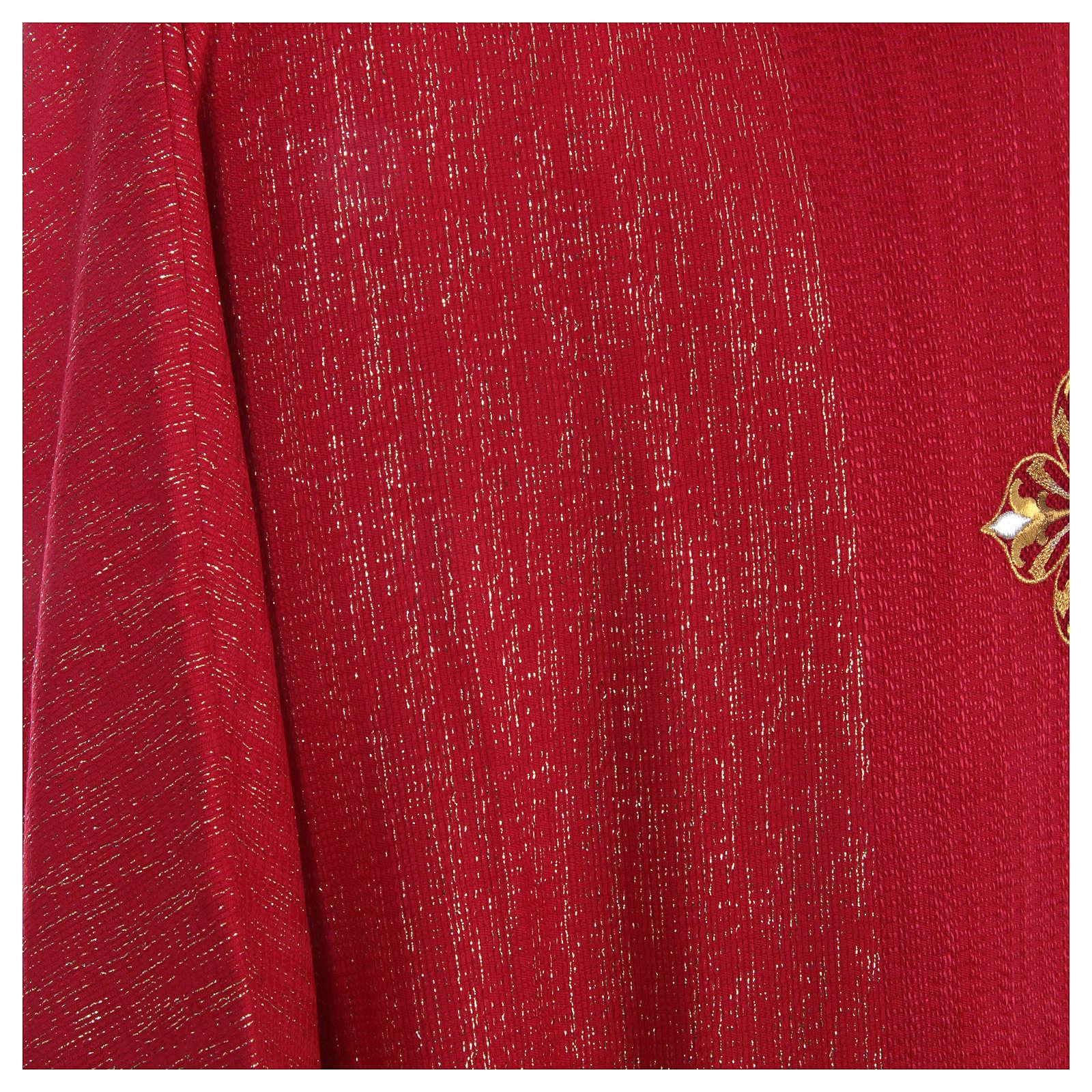 Casula 85% lana 15% lurex ricamo tre croci 4