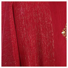 Casula 85% lana 15% lurex ricamo tre croci s13