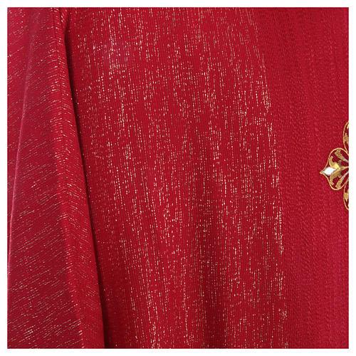 Casula 85% lana 15% lurex ricamo tre croci 13