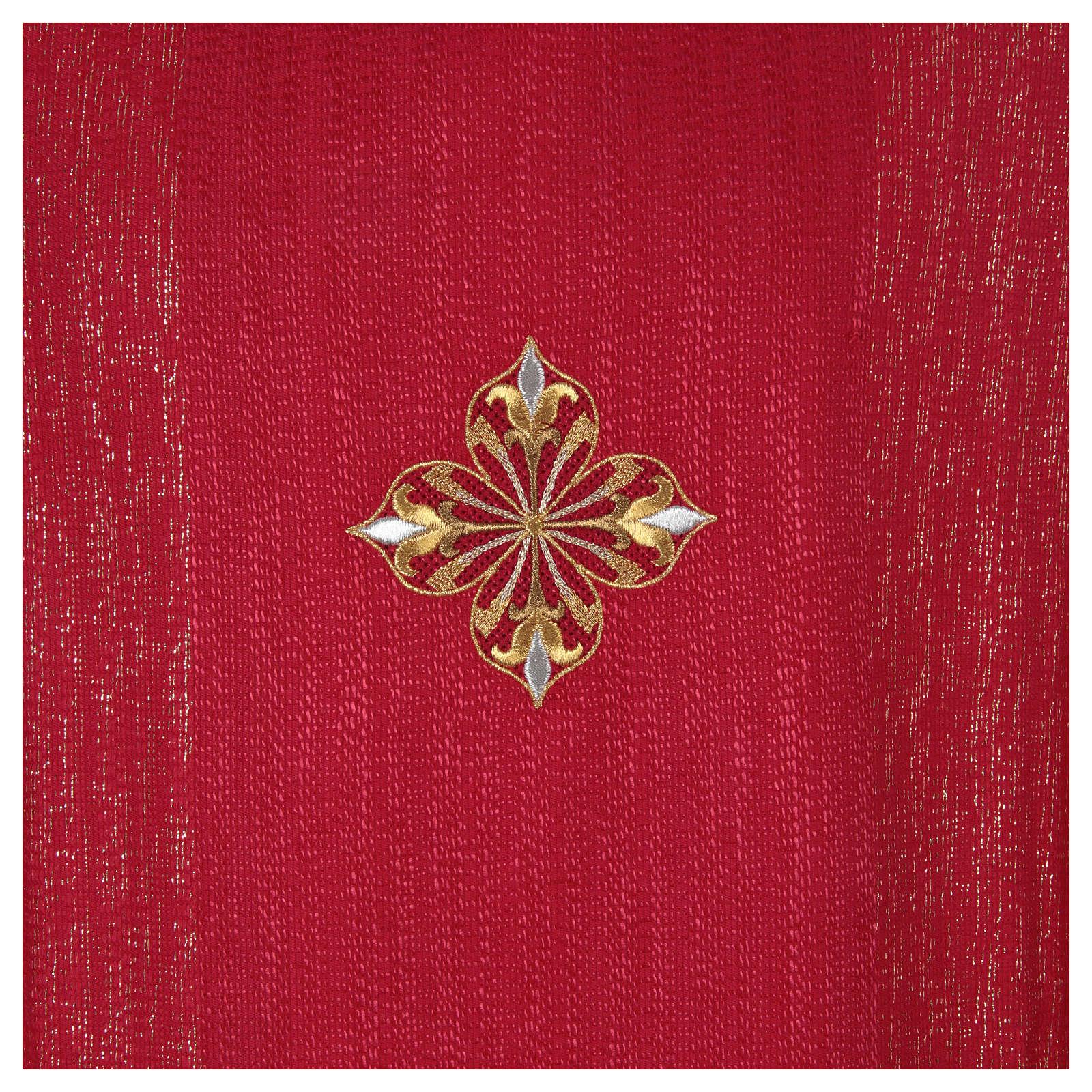 Casula 85% lã 15% lurex bordado 3 cruzes 4