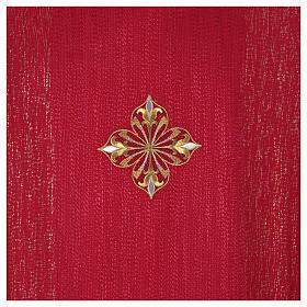 Casula 85% lã 15% lurex bordado 3 cruzes s12