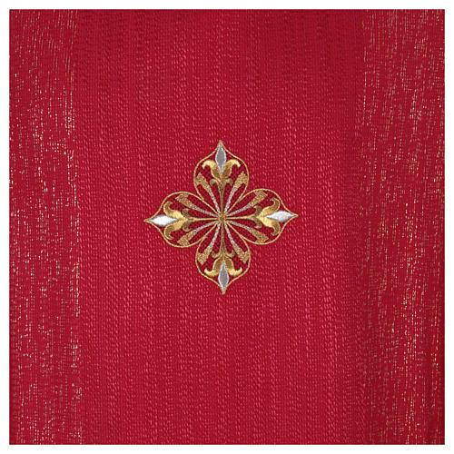 Casula 85% lã 15% lurex bordado 3 cruzes 12