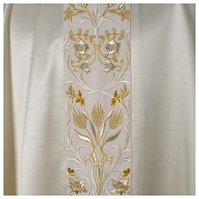 Casula ricamata a macchina lana seta lurex fiori s12