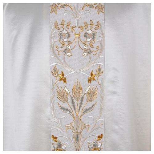 Casula ricamata a macchina lana seta lurex fiori 8